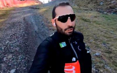 Javi Sancho se convierte en viral corriendo por la montaña